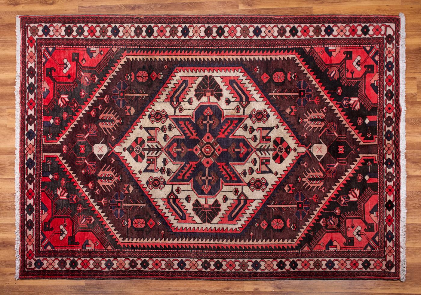 Covor lucrat manual Iran Sarouk